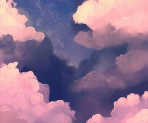 clouds, pink, and Dream image