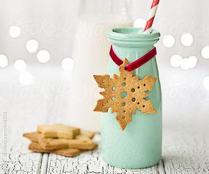 snowflake, sugar cookie, and christmas photo image