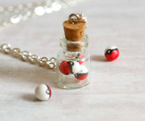 etsy, pokeballs, and bottle necklace image