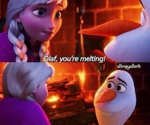 anna, frozen, and olaf image