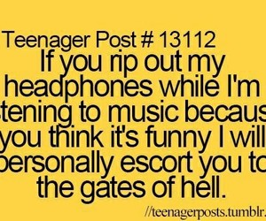 music, funny, and headphones image