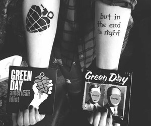 black, green day, and punk image