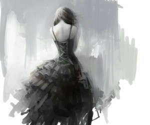 art, dress, and anime image