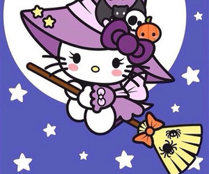 hello kitty, Halloween, and sanrio image