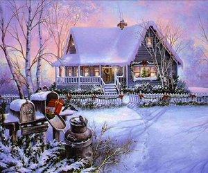snow, christmastime, and xmas image