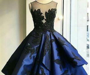 blue, cocktail dress, and blue dress image