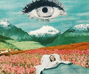 Collage, eyes, and crazy image