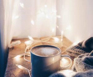 coffee, lights, and winter image