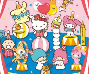 characters, circus, and sanrio image