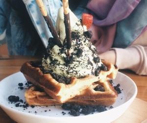 food, ice cream, and matcha image