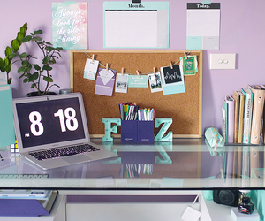 home office, study inspiration, and study space image