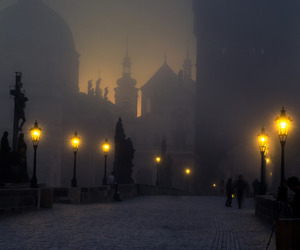 light, prague, and night image