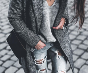 fashion, jeans, and grey image