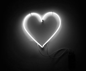 b&w, heart, and lovely image