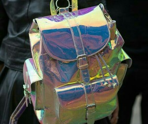 backpack, holo, and chic image