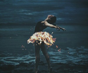 fire, ballet, and dance image