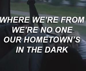hometown, Lyrics, and tumblr image