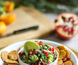 chips, guacamole, and christmas image