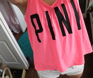 pink, summer, and shirt image