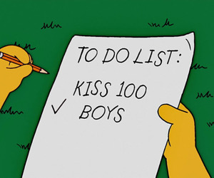 boy, kiss, and simpsons image
