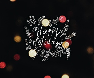 background, winter, and christmas image