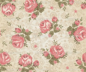 flowers, vintage, and pattern image