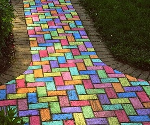chalk, colorful, and art image