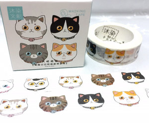 i love cat, cats, and washi tape image
