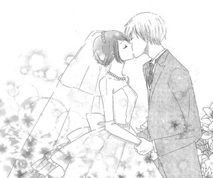 black&white, couple, and cute couple image