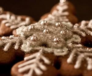 christmas, food, and snowflake image