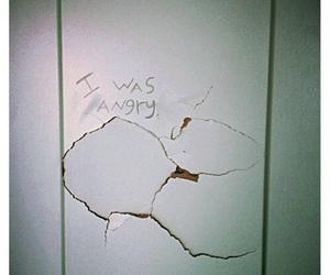 angry, grunge, and wall image