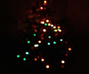 christmas, dark, and tree image