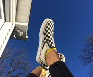 checkers, shoes, and sky image