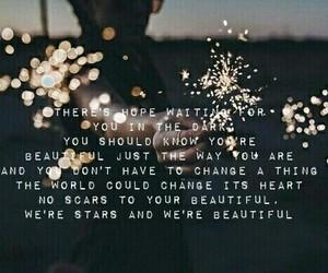 girl, lights, and Lyrics image