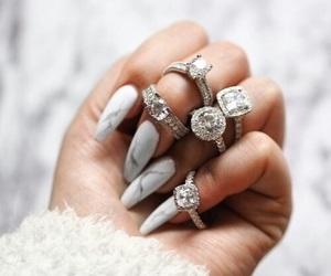 nails, rings, and diamond image