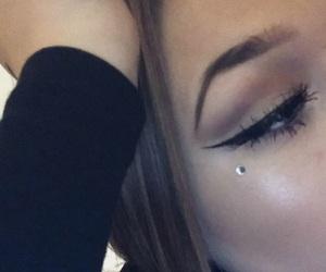 eyebrow, eyeliner, and happy image