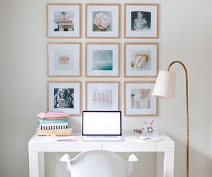 desk, decoration, and white image
