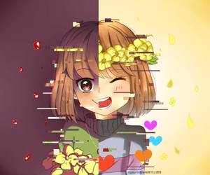 undertale, chara, and frisk image