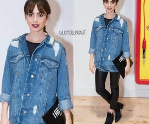 cool, lily collins, and jeans image