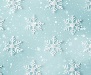 art, blue, and snow image