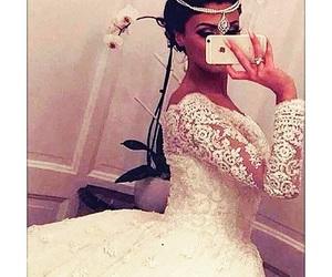beauty, wedding, and dress image