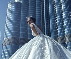 girl, beautiful, and bride image
