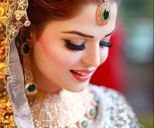 bride, jewellery, and pakistani image