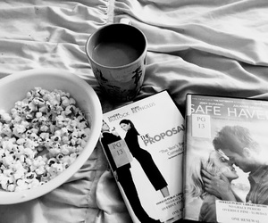 coffee, movies, and popcorn image