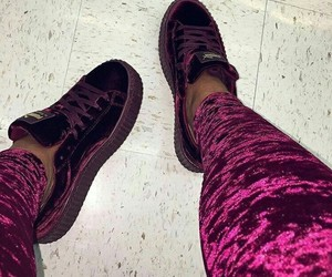 outfit, puma, and purple image