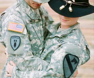 army, couple, and military image