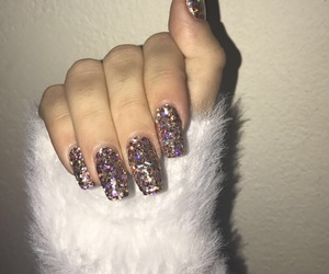 fur, glitter, and holiday image