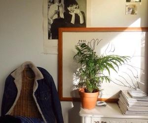interior, plant, and retro image
