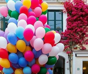 colors, balloons, and pink image