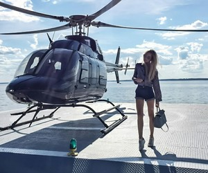 luxury, helicopter, and style image